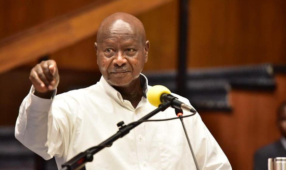 President Museveni at press