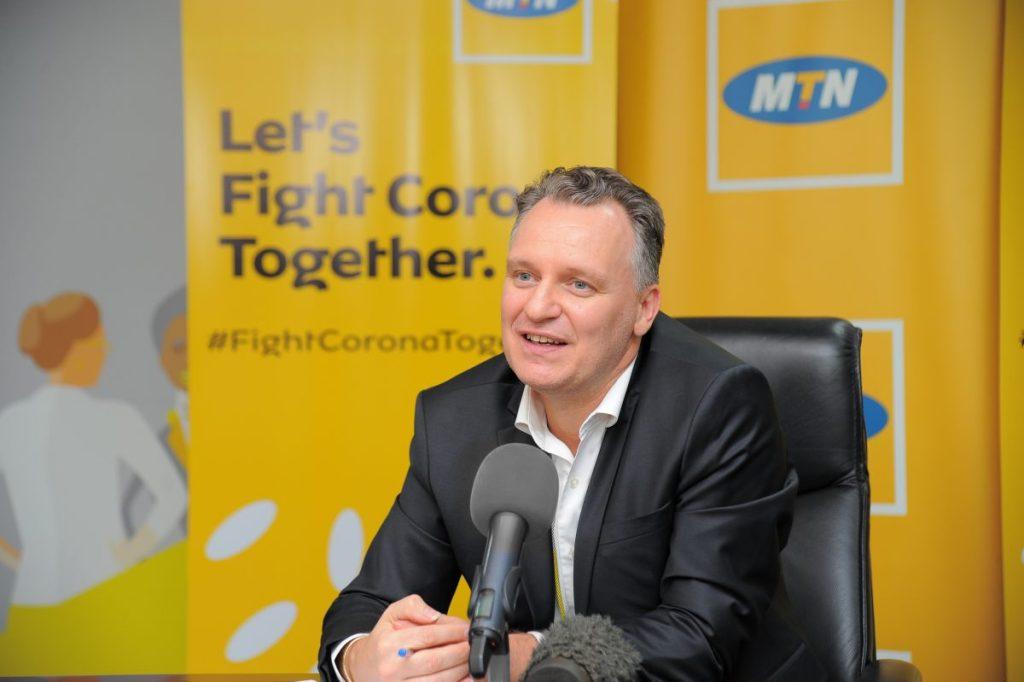 MTN Uganda CEO Wim Vanhelleputte,