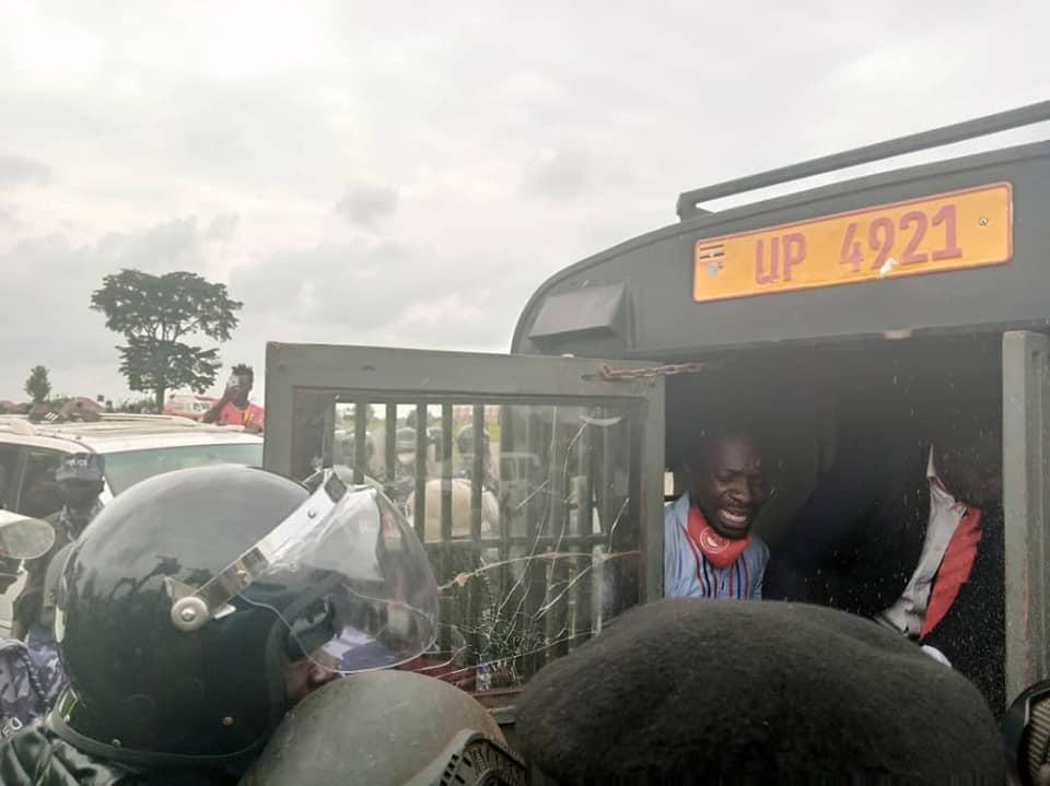 National Unity Platform presidential candidate Bobi Wine arrested.