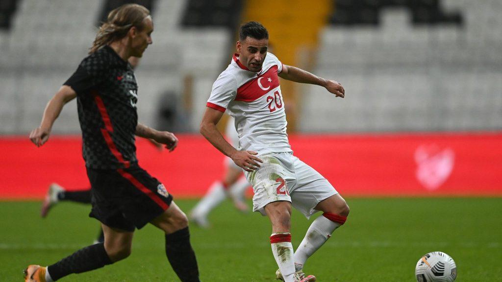 Croatia captain Domagoj Vida tests positive after playing half time.