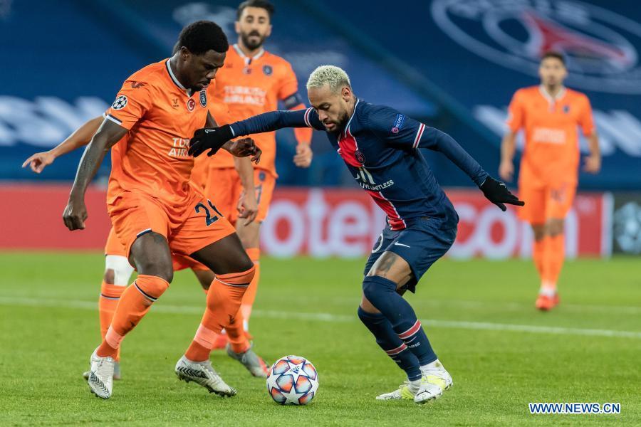 Neymar's hat-trick helps PSG thrash Basaksehir in suspended CL match