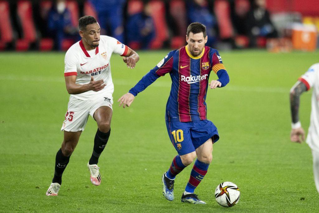 evilla beat Barca in first leg of Copa del Rey semifinal
