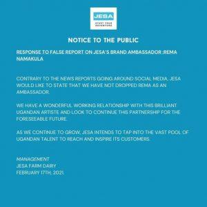 Jesa Farm refutes rumours of Rema's contract termination