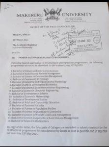 Makerere University restructures Academic programmes