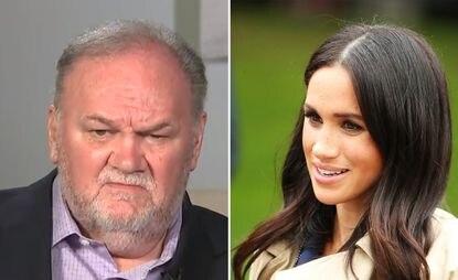 Meghan Markle's father defends British royals