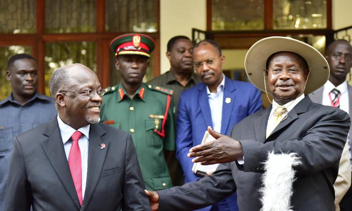 President Museveni mourns the late John Pombe Magufuli