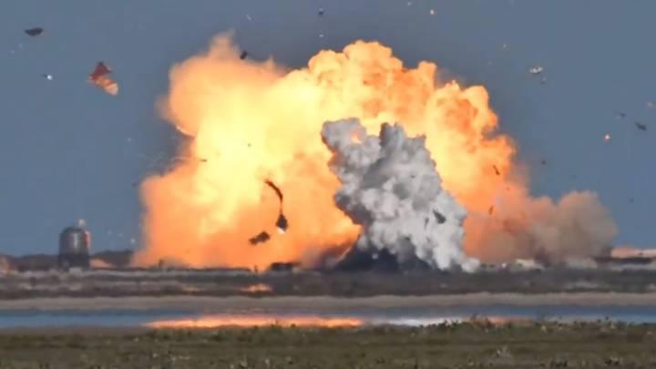 SpaceX rocket explodes after landing in test flight