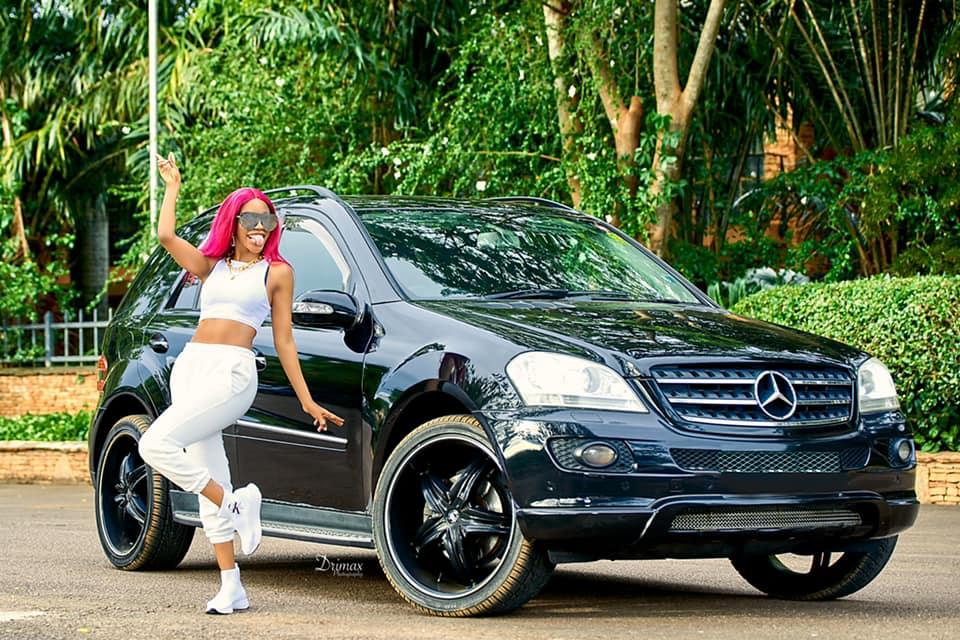Vinka show off her new monster Mercedez benz