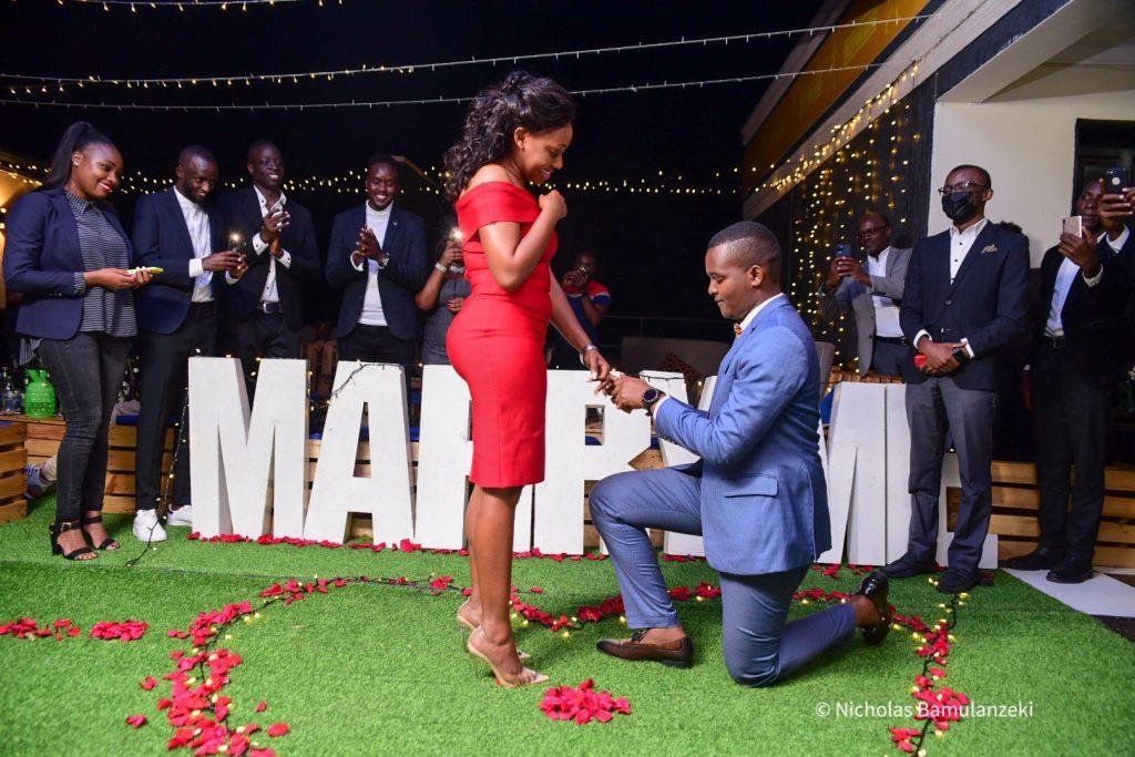 Canary Mugume bends the Knee, proposes to fiance Sasha Ferguson