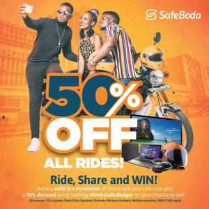 SafeBoda announces 50% discount in new promo