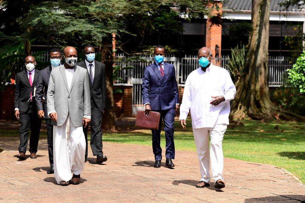 President Museveni meets His Majesty the Kabaka of Buganda Ronald Muwenda Mutebi II