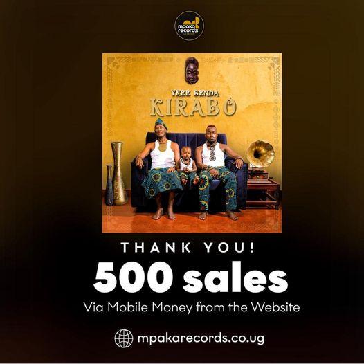 Ykee Benda celebrates 500 sales of Kirabo Album in 3days