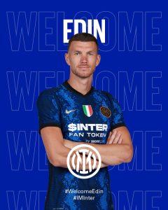 Edin Dzeko joins Inter Milan on a free transfer