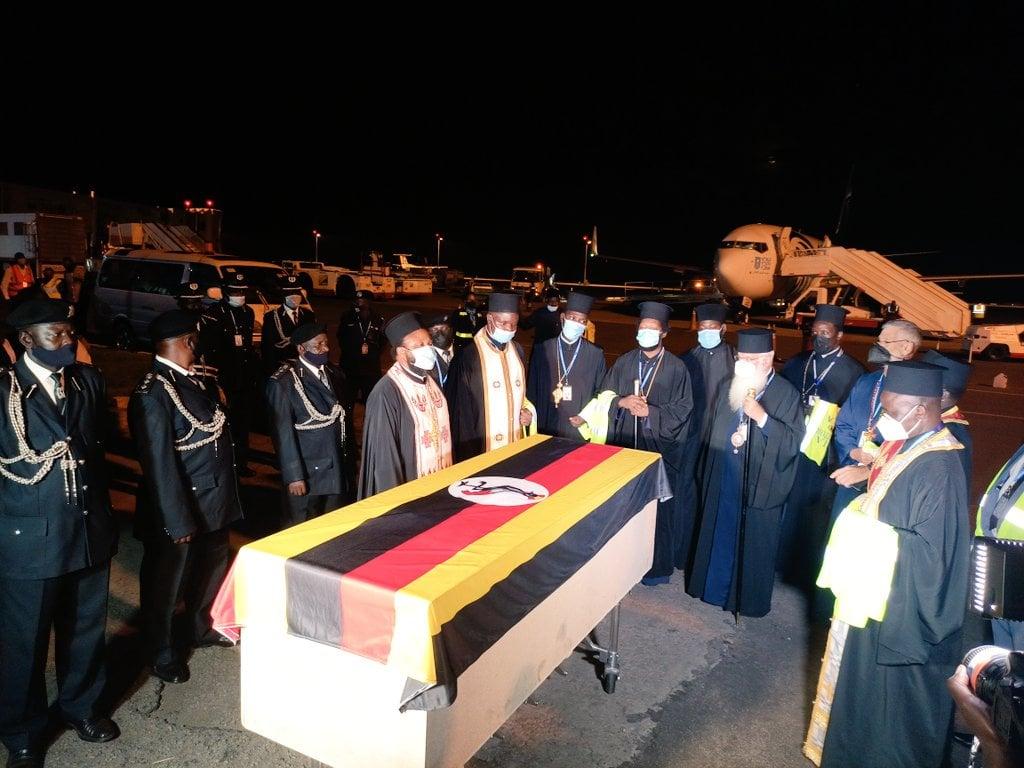 The Body Of His Eminence Metropolitan Jonah Lwanga returned for Burial on Monday